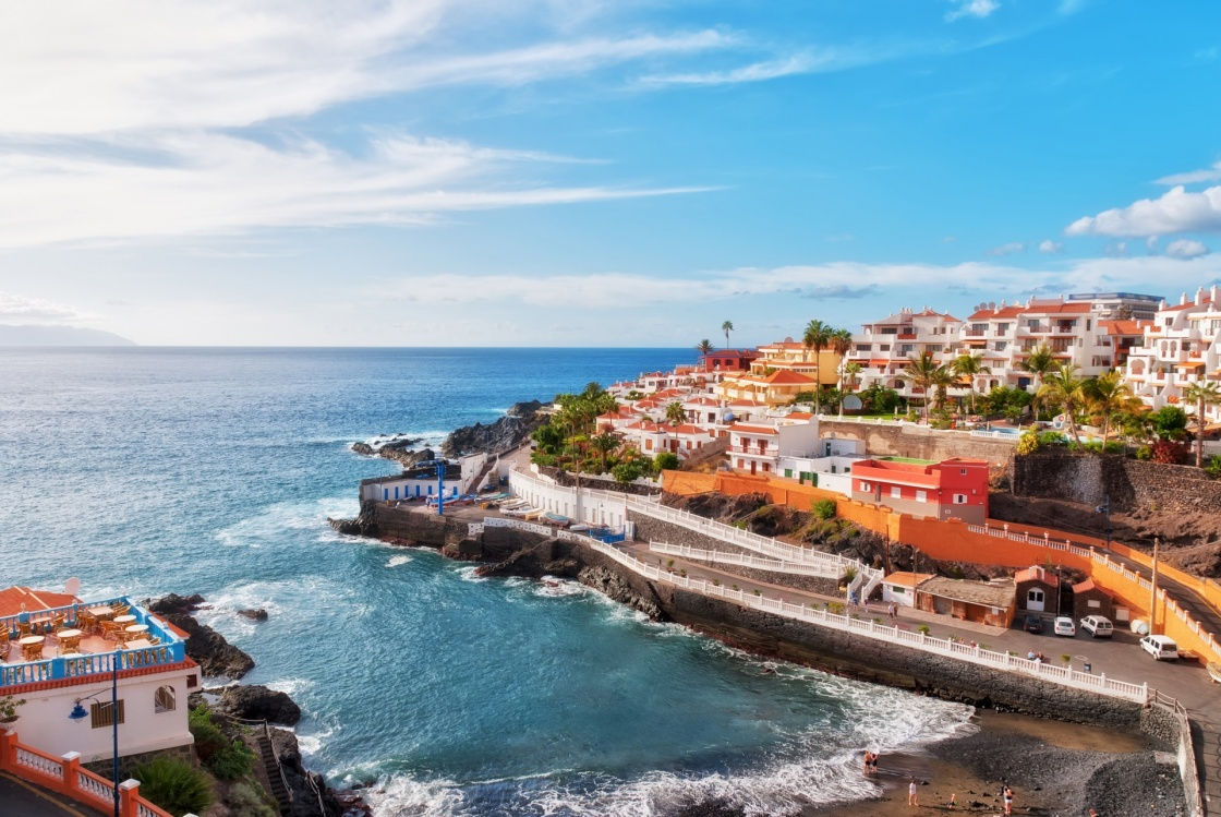 'Puerto Santiago, Tenerife, in the Spanish Canary Islands' - Isole Canarie
