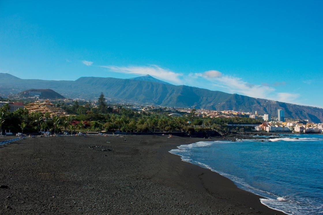 Le bellissime spiagge delle canarie - Playa puerto de la cruz tenerife ...